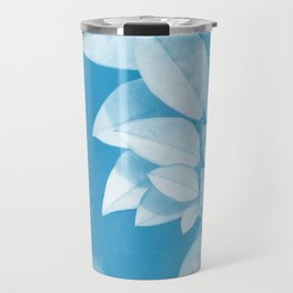 Leaves in Blue Travel Mug