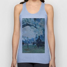 Claude Monet - Arrival Of The Normandy Train, Gare Saint Lazare Unisex Tank Top