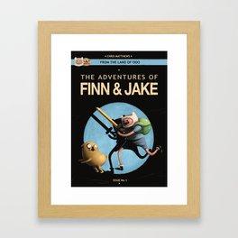 The Adventures of Finn & Jake Framed Art Print