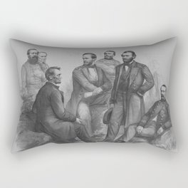 President Lincoln and His Commanders Rectangular Pillow