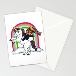 Trump Riding on Unicorn to Election 2020 Victory design Stationery Cards