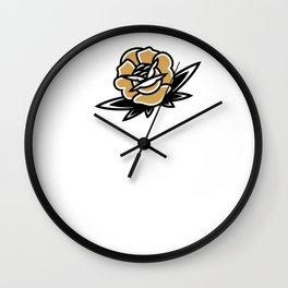 Gold Rose Wall Clock
