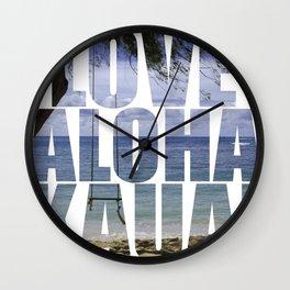Love Aloha Kauai Wall Clock