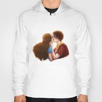 zuko Hoodies featuring Zutara cute kiss by Amourinette
