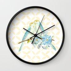 The love birds Wall Clock