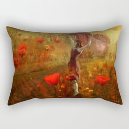 Poppy Dancer Rectangular Pillow