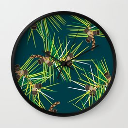 Perennial Needles Wall Clock