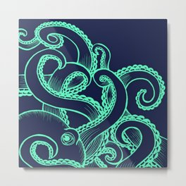 Octopus and the Deep Blue Sea Metal Print