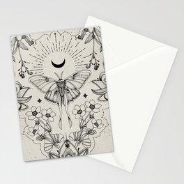 Bohemian Luna Moth Stationery Cards