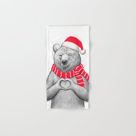 christmas bear #2 Hand & Bath Towel