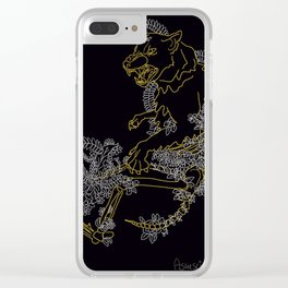 Shoot me down, coward. Clear iPhone Case