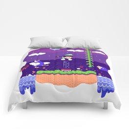 Tiny Worlds - Super Mario Bros. 2: Luigi Comforters