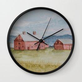 Kalispell Barn Wall Clock