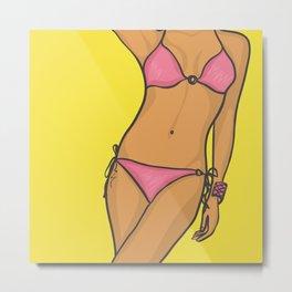 Beautiful body in a bikini Metal Print