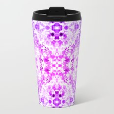 Floral Print - Magenta & Purple Travel Mug