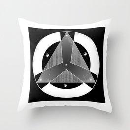 Insignia Organización Negativo Throw Pillow