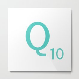 Blue Q Scrabble Art Initial Metal Print