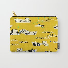 Tall ships in yellow Carry-All Pouch