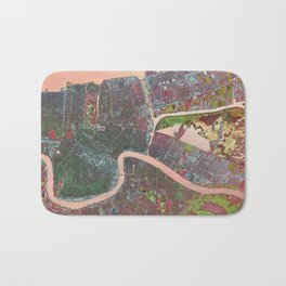 A Map of Vibrant New Orleans Bath Mat