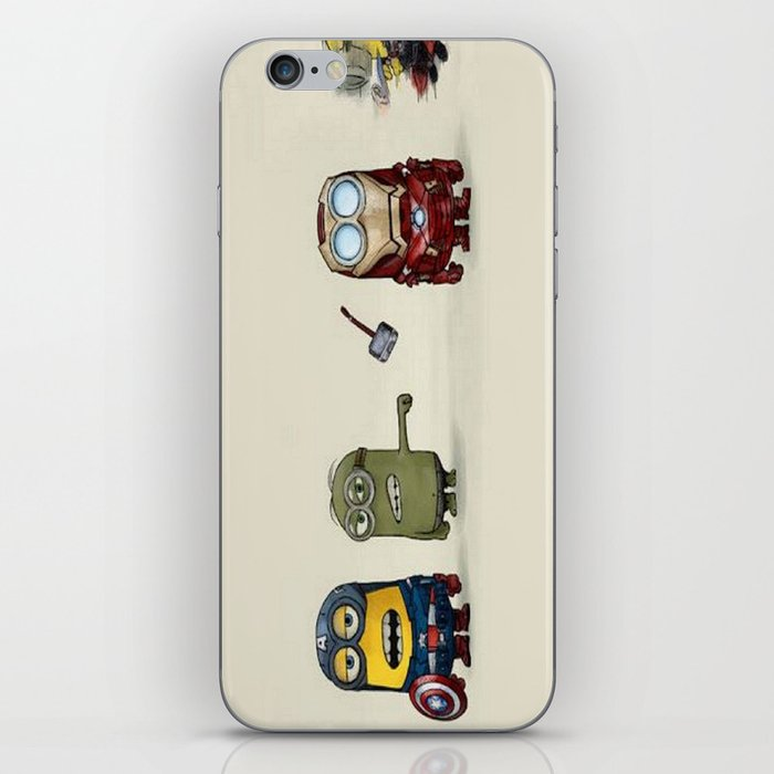 Minion Avengers iPhone Skin