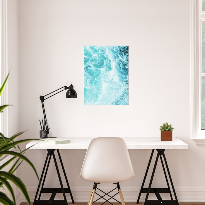 Perfect Sea Waves Poster