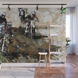 """Dare to Race"" Motocross Dirt-Bike Racers Wall Mural"