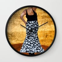 spanish Wall Clocks featuring Spanish Dancer by Anthony M. Davis