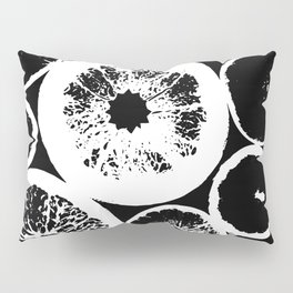 Citrus Black & White Pillow Sham