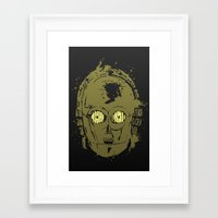 c3po Framed Art Prints featuring C3PO by Peyeyo
