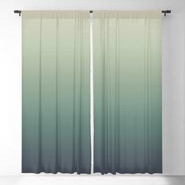 color gradient   blue ,green, grey - autumn colors Blackout Curtain
