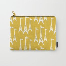 Mid Century Modern Giraffe Pattern 221 Mustard Yellow Carry-All Pouch