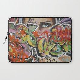 found street art urban graffiti layers texture pattern lettering portrait Laptop Sleeve