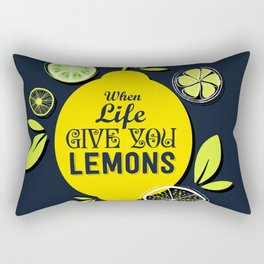 Give You Lemons Rectangular Pillow