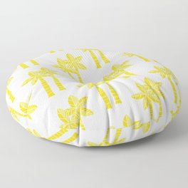 Palm Tree Pattern Yellow Floor Pillow