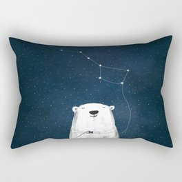 Ursa Major - Polar Bear Constellation Rectangular Pillow