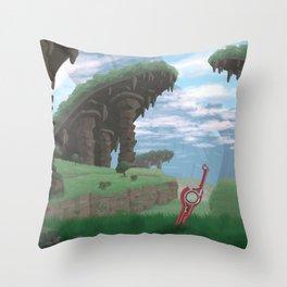 Gaur Plains Travel Poster Throw Pillow