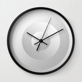 Minimal Circle pastel White and Grey Wall Clock