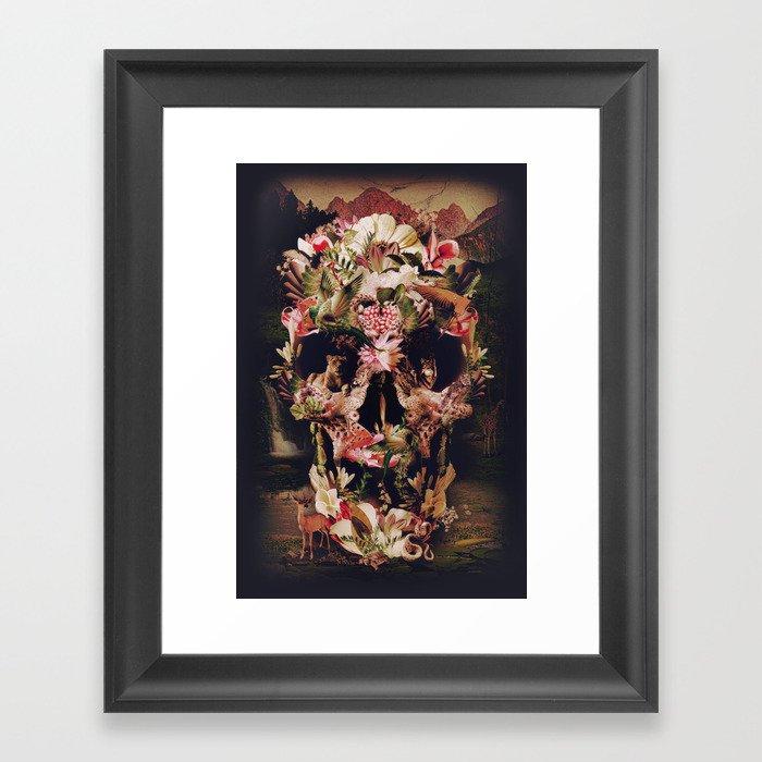 Jungle Skull Framed Art Print