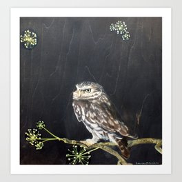 Little Owl and Ivy Art Print