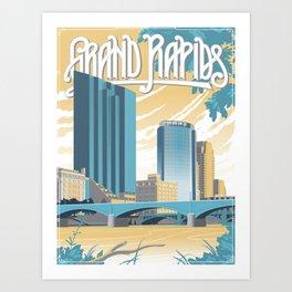 Vintage Grand Rapids Art Print