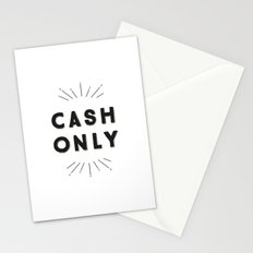 Cash Only Stationery Cards