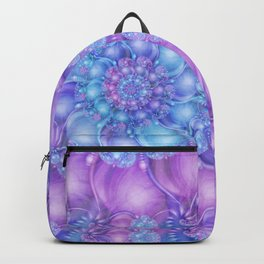 Cerulean Blue & Violet Spiral Backpack