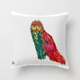 Bright Owl Throw Pillow