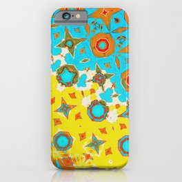 Yellow, Blue and Orange Geometric Abstract Art  iPhone Case