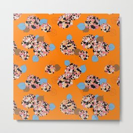 Orange hydrangea Metal Print