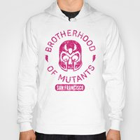 xmen Hoodies featuring Bad Boy Club: Brotherhood of Mutants  by Josh Ln