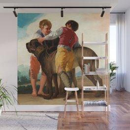 """Francisco Goya """"Boys with Mastiffs"""" Wall Mural"""