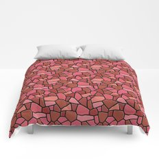 Stained Glass Red Comforters