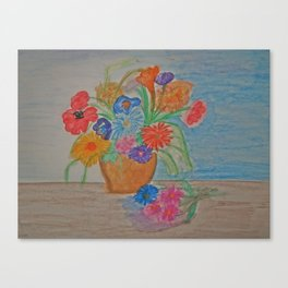 BROWN VASE Canvas Print