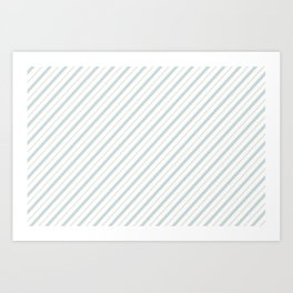 Blue Stripe Art Print
